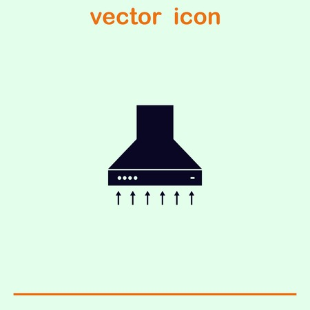 aspirator: Home appliances icon. Kitchen hood icon. Vector illustration. Illustration