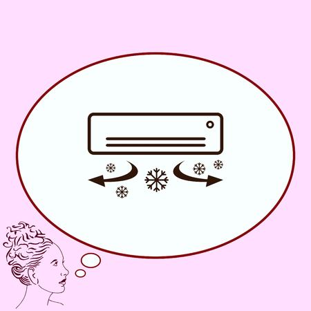 coolness: Home appliances icon. Air Conditioning icon. Vector illustration. Split System. Illustration