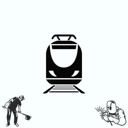 Passenger train, subway, Metro, public transport  icon, illustration.
