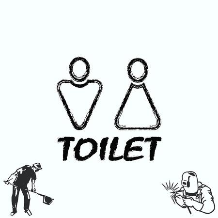 Restroom icon, illustration Illustration