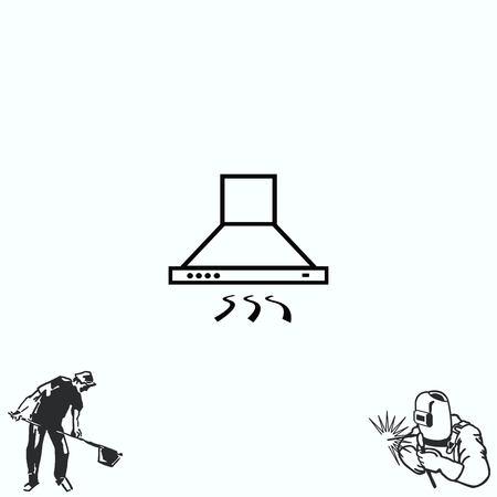 Home appliances icon. Kitchen hood icon. Illustration