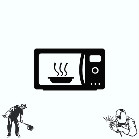 microwave: Home appliances icon. Microwave icon. Illustration
