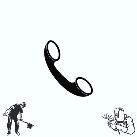 The handset, phone icon , illustration. Illustration