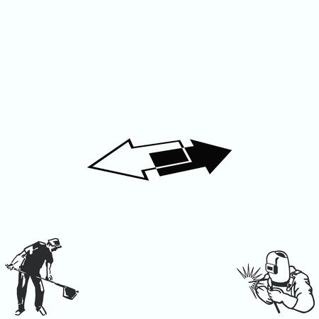 Arrow indicates the direction  icon, illustration Illustration