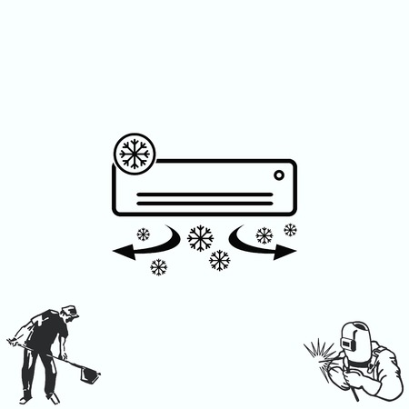 Home appliances icon. Air Conditioning icon.