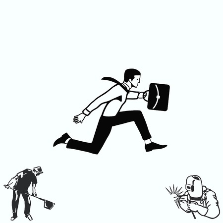 running businessman: running businessman. Illustration