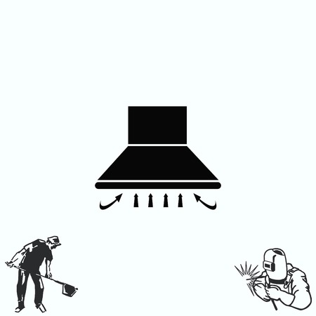 kitchen appliances: Home appliances icon. Kitchen hood icon. Illustration