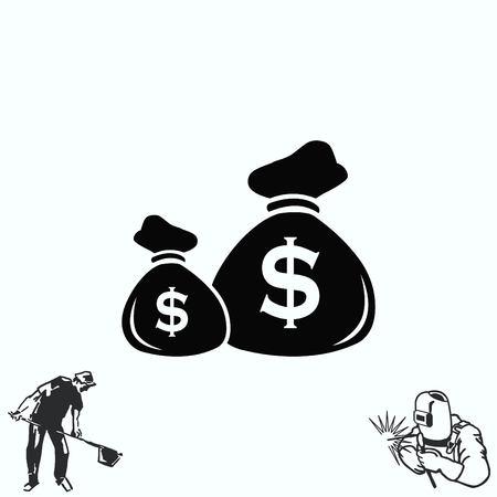 Money icon, Finance Icon, illustration. Flat design style.