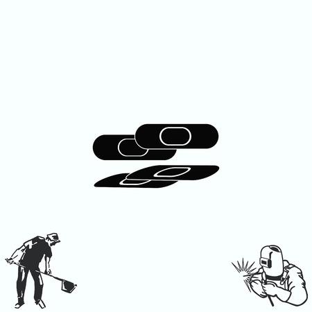 Bandage plaster icon. Illustration