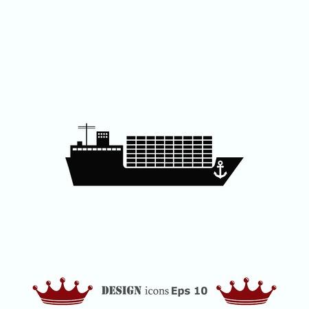 pictogram schip, vector illustratie. Platte design stijl.