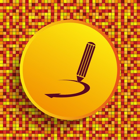Pencil icon, vector illustration Illustration