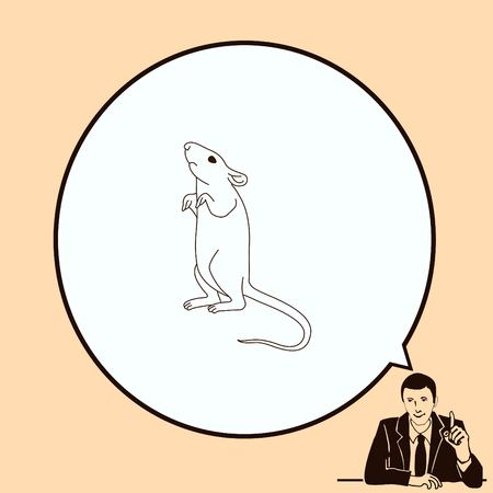rodent: Mouse, rat, rodent pest icon.