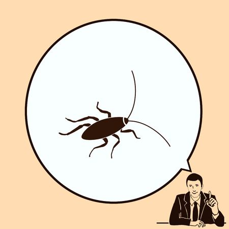 icon vector: Cockroach icon, pest icon, vector illustration. Illustration