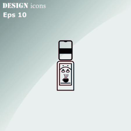 cooler: Water Cooler icon, vector illustration. Illustration