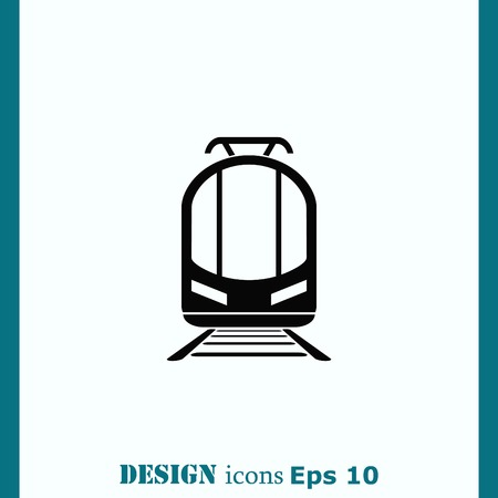 diesel train: Passenger train, subway, Metro, public transport  icon, vector illustration. Flat design style
