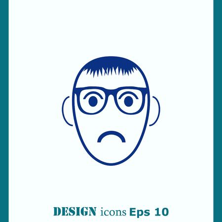 mischievous: Angry little boy Icon.