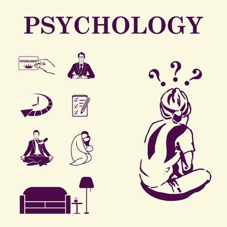 psychologist: Psychology icon set, Psychologist icon,  vector illustration.