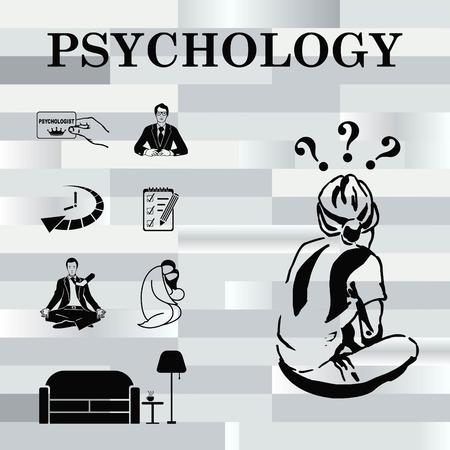 imagine a science: Psychology icon set, Psychologist icon,  vector illustration.