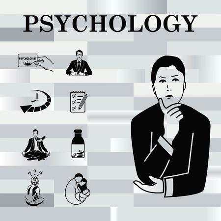 Psychology icon set, Psychologist icon,  vector illustration.