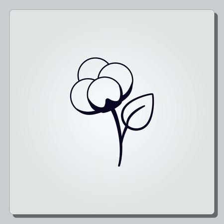 boll: Cotton icon, vector illustration.