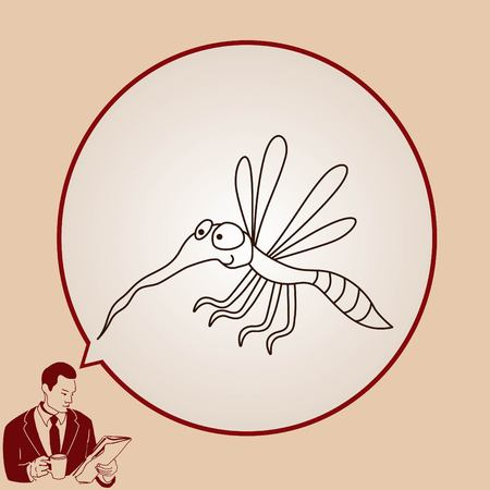 sanguijuela: Mosquito icon. Leech icon. Wasp icon. Fly icon, vector illustration.