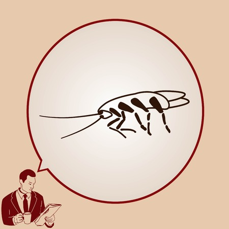 insect control: Cockroach icon, pest icon, vector illustration. Illustration
