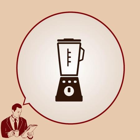 blender: Home appliances icon. blender icon,  Flat Icon of mixer.  Vector illustration. Kitchenware.