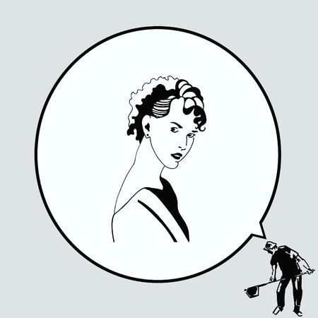 Beautiful woman. Female silhouette. Fashionable. Glamour. Vector illustration