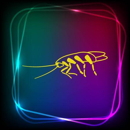 cockroach: Cockroach icon, pest icon, vector illustration. Illustration