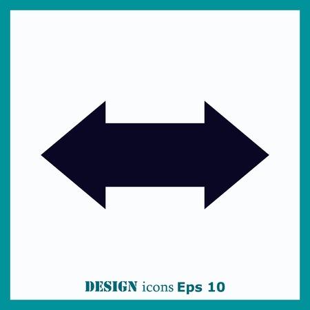 designator: Arrow indicates the direction  icon, vector illustration