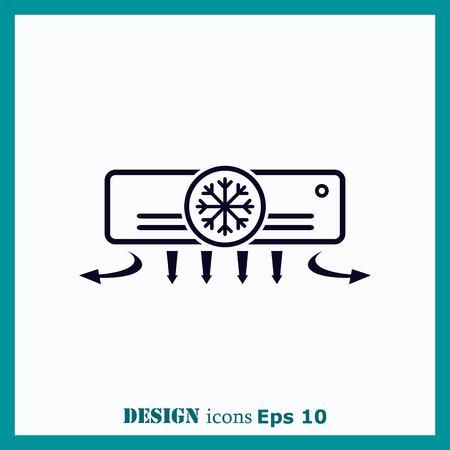ionizer: Home appliances icon. Air Conditioning icon. Vector illustration. Split System. Illustration