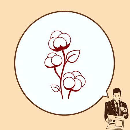 label tag: Cotton icon, vector illustration.