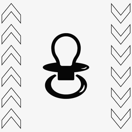Baby's dummy sign icon. Child pacifier symbol, vector illustration. Flat design style Vektoros illusztráció