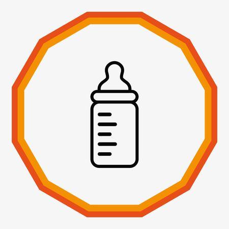 Baby bottle icon, vector illustration. Flat design style Vektoros illusztráció