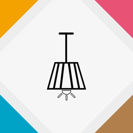 table lamp: Home appliances icon. Table lamp, floor lamp, chandelier icon. Vector illustration. Illustration