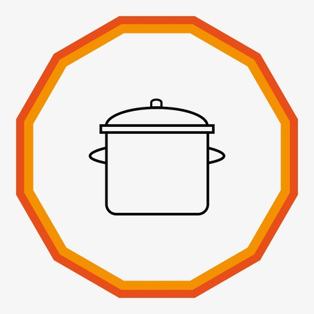 Home appliances icon. pan icon. Vector illustration. Illustration