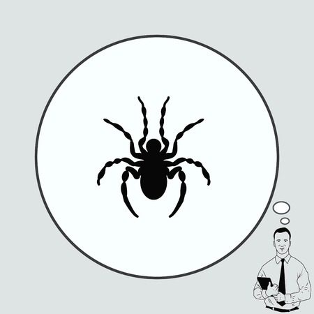 Spider icon. Wasp icon. Fly icon, vector illustration. Illustration