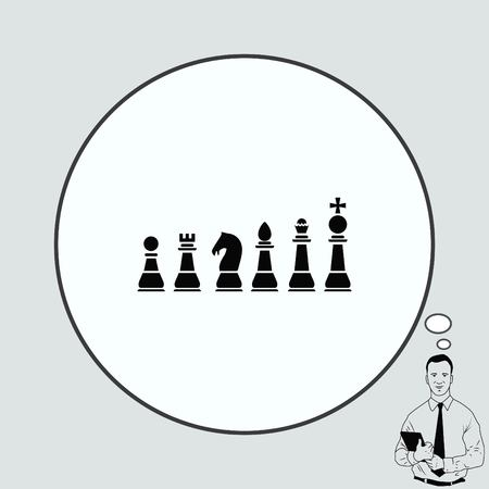 icon chess pieces, vector illustration.