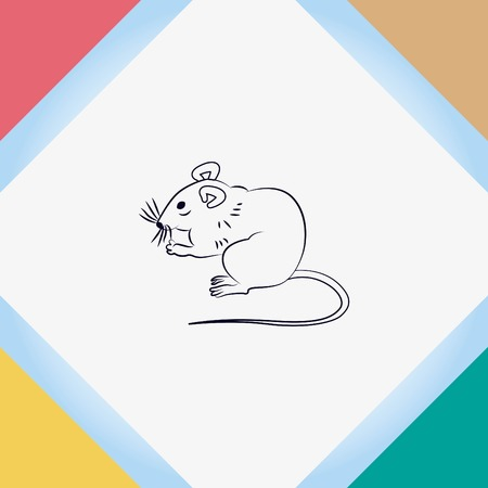 restraint: Mouse, rat, rodent pest icon.