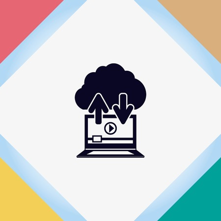 content production icon, vector illustration. Flat design style.