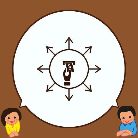 Money icon, Finance Icon, vector illustration. Flat design style. Vectores