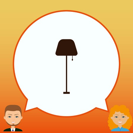chandelier: Home appliances icon. Table lamp, floor lamp, chandelier icon. Vector illustration. Illustration