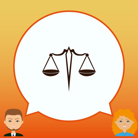 Scales icon, vector illustration