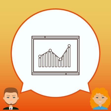 web analytics icon, Finance Icon, vector illustration. Flat design style.