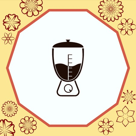modern kitchen: Home appliances icon. blender icon,  Flat Icon of mixer.  Vector illustration. Kitchenware.