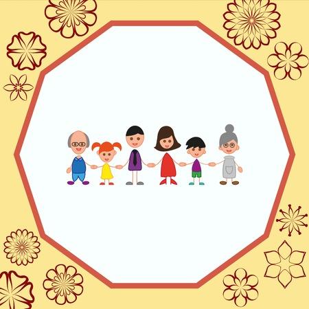 Family icon, vector illustration. Flat design style Illustration