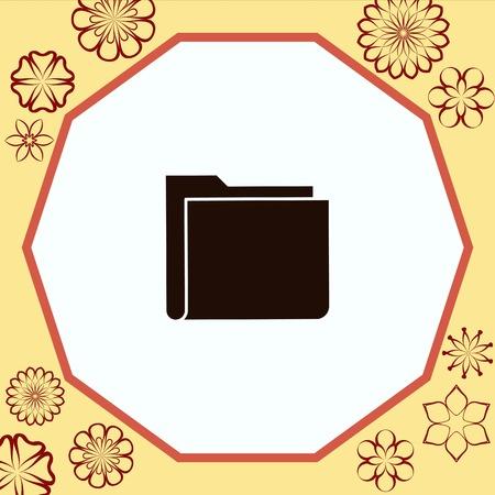 Papka icon, vector illustration. Flat design style.