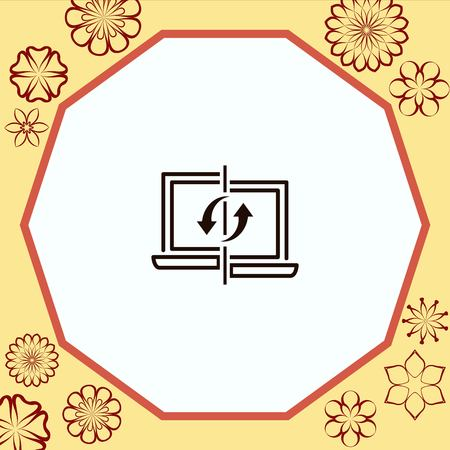 content syncing icon, vector illustration. Flat design style.