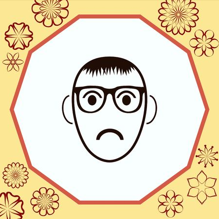 moody: Angry little boy Icon.