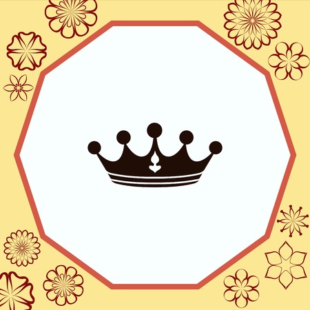 Crown icon. Finance Icon, vector illustration. Flat design style. Illustration